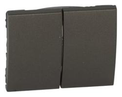 Лицевая панель Galea Life для двухклавишного выключателя и переключателя (темная бронза) 771212