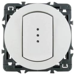 Влагозащищенный выключатель-переключатель Celiane с подсветкой (белый)