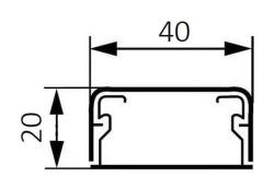 Миниплинтус DLPlus 40x20мм. без перегородки 2,1м (белый)