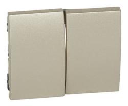 Лицевая панель Galea Life для двухклавишного выключателя и переключателя (титан) 771412
