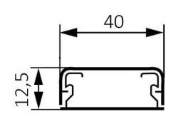 Миниплинтус DLPlus 40x12,5мм. без перегородки 2,1м (белый)