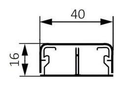 Миниплинтус DLPlus 40x16мм. с перегородкой 2,1м (белый)