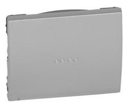 Лицевая панель Galea Life для выключателя и переключателя с подсветкой (алюминий) 771334