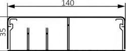 Плинтус 140х35 (белый)