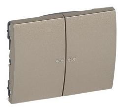 Лицевая панель Galea Life для двухклавишного выключателя и переключателя с подсветкой (титан) 771479