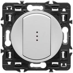 Переключатель кнопочный Celiane с подсветкой (белый) 067031+67686+068003+080251