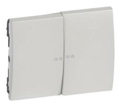 Лицевая панель Galea Life для двухклавишного выключателя и переключателя с подсветкой (перламутр) 771579