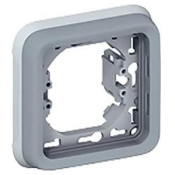 Рамка для встроенного монтажа с суппортом Plexo1 пост (цвет серый) 069681