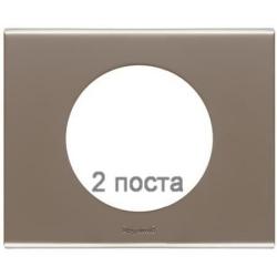 Рамка Сeliane двухместная (никель велюр) 069112