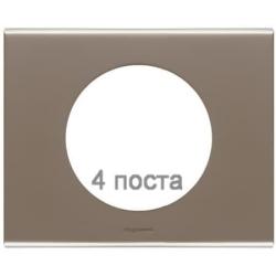 Рамка Сeliane четырехместная (никель велюр) 069114