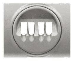 Лицевая панель Galea Life для двойной акустической розетки (алюминий) 771325