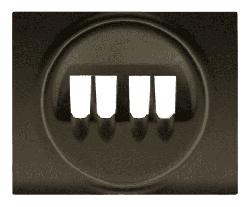 Лицевая панель Galea Life для двойной акустической розетки (темная бронза) 771225