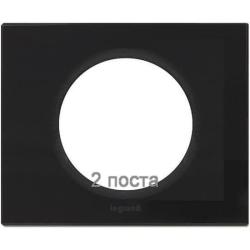 Рамка Сeliane двухместная (смальта графит) 069302