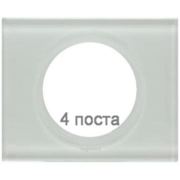 Рамка Сeliane четырехместная (смальта белая глина) 069314