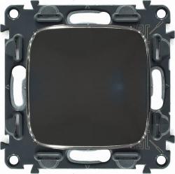Кнопка 6А Valena Allure (темная нержавеющая сталь) 752011+755113