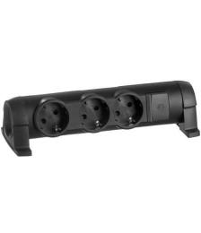 Колодка «Комфорт» на 3 розетки  без кабеля (черный) 694603
