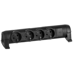 Колодка «Комфорт» на 4 розетки без кабеля (черный) 694606