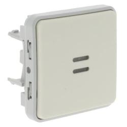 Переключатель с индикацией Plexo IP55 (цвет белый) 069612