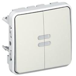 Переключатель с подсветкой двухкл. Plexo IP55 (цвет белый) 069626