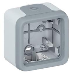 Рамка 1-постовая для накладного монтажа Plexo IP55 (цвет серый) 069651