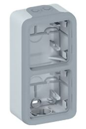 Рамка 2-постовая вертикальная для накладного монтажа Plexo IP55 (цвет серый) 069661