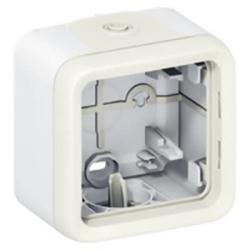 Рамка 1-постовая для накладного монтажа Plexo IP55 (белая) 069689
