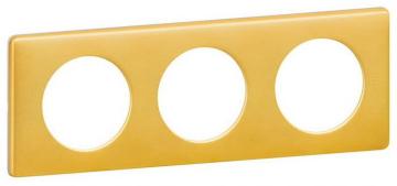 Рамка трехместная Celiane (латунь) 068793