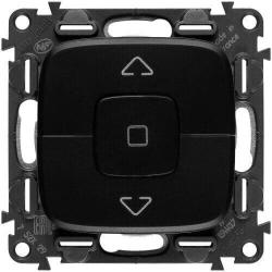 Кнопка-выключатель для рольставней Valena Allure (антрацит) 752030+755148