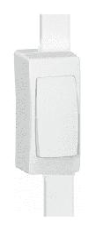Рамка Oteo 1-ая узкая вдоль мини-плинтуса DLPlus 40x12,5мм и 40х16мм
