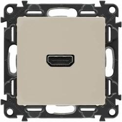 Розетка HDMI Valena Life с лицевой панелью (слоновая кость)