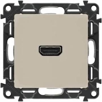 Розетка HDMI Valena Life с лицевой панелью (слоновая кость) 753271