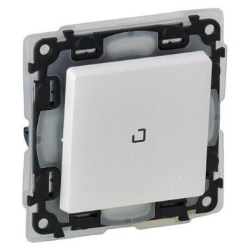 Выключатель с подсветкой влагозащищенный Valena Life (белый) 752161