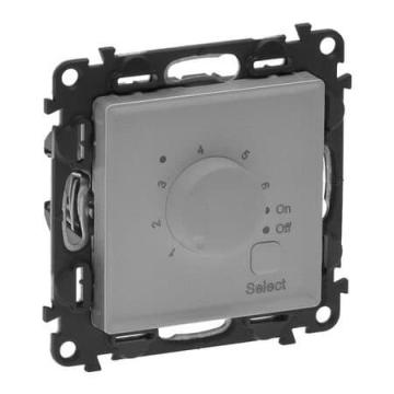 Терморегулятор для теплого пола Valena Life с лицевой панелью (алюминий)