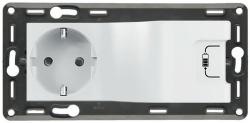 Комбинированная розетка электрическая + USB с накладкой Life/Allure (белая) 753110
