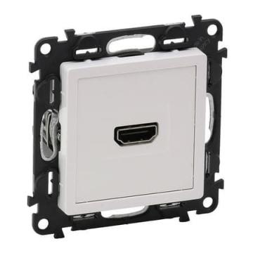 Артикул: 753171, Розетка HDMI Valena Life с лицевой панелью (белая)