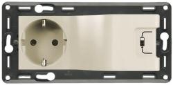 Комбинированная розетка электрическая + USB с накладкой Life/Allure (слоновая кость) 753210