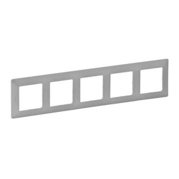 Рамка пятиместная Valena Life (алюминий) 754135