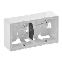 Коробка двухместная для накладного монтажа Valena Lafe (белая) 754192