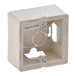 Коробка для накладного монтажа 1-постовая Valena Life (слоновая кость)