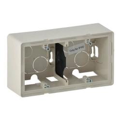 Коробка двухместная для накладного монтажа Valena Life (слоновая кость) 754202