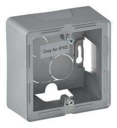Коробка одноместная для накладного монтажа Valena Lafe (алюминий)