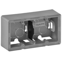 Коробка двухместная для накладного монтажа Valena Lafe (алюминий) 754212