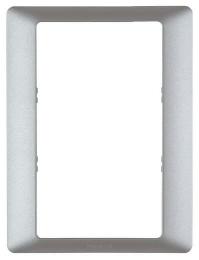 Рамка одноместная для двойных розеток Valena Life (алюминий) 754241
