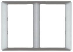 Рамка двухместная для двойных розеток Valena Life (алюминий) 754242