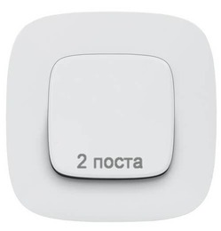 Рамка двухместная Valena Allure (белая) 754302