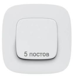 Рамка пятиместная Valena Allure (белая) 754305