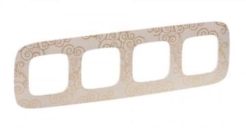 Рамка четырехместная Valena Allure (Нарцисс золото) 754354