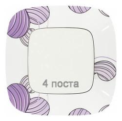 Рамка четырехместная Valena Allure (Флора) 754364
