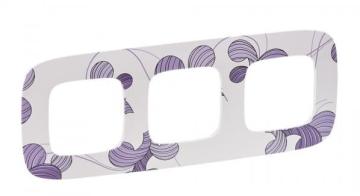 Рамка трехместная Valena Allure (Флора) 754363
