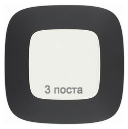 Рамка трехместная Valena Allure (Матовый черный) 754403